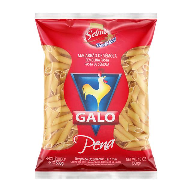 MACARRÃO GALO 500G VERM PENE SEMOLA