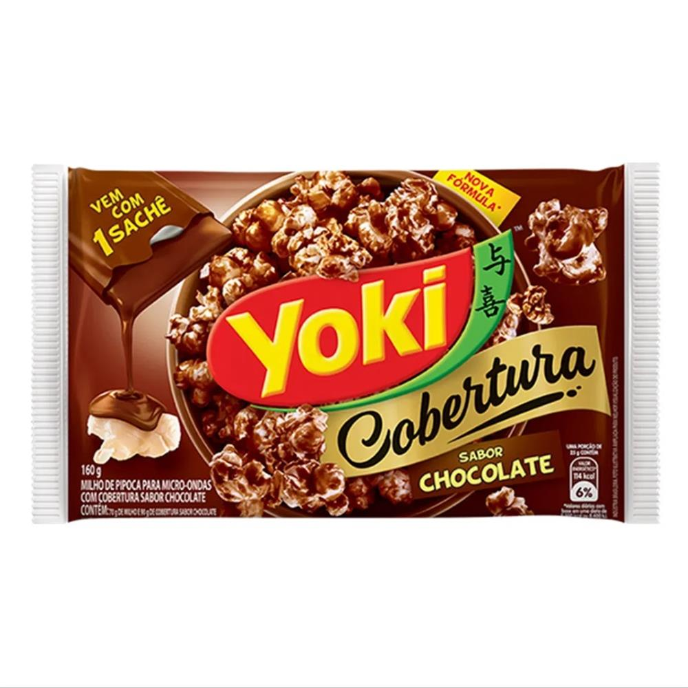 PIPOCA MICRO YOKI 160G COB CHOCOLATE