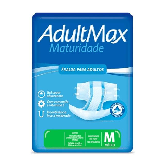 FRALDAS GERI ADULTMAX MAT PLUS MD C/20UN