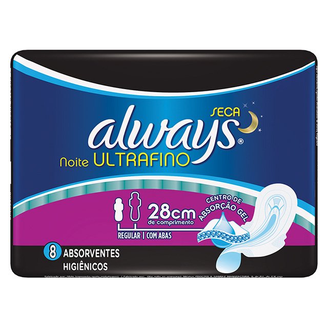 ABSORVENTE ALWAYS ACTIVE ULTRA NOTURNO 8UN