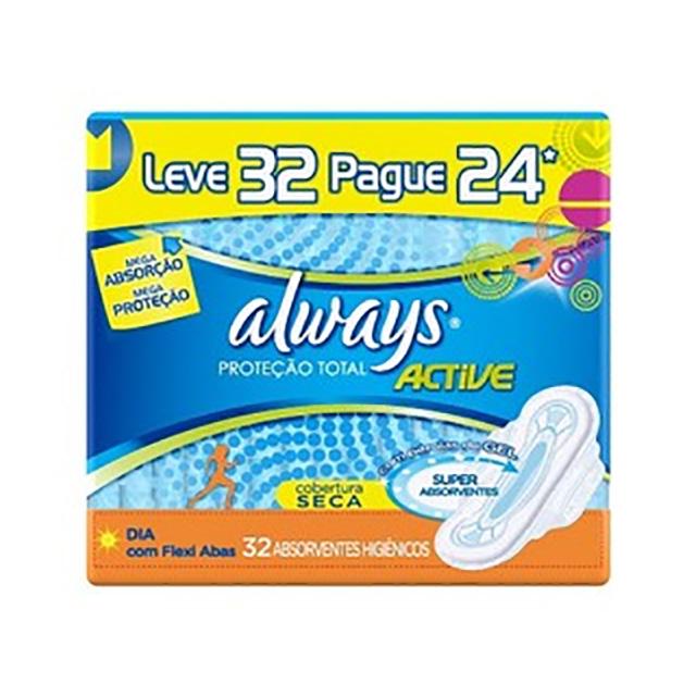 ABSORVENTE ALWAYS ACTIVE C/ABAS L32P28