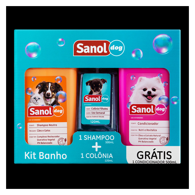 KIT SANOL DOG SH+COND+COLONIA 120ML