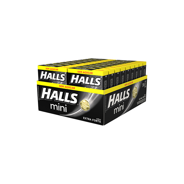 HALLS MINI 18X15G EXTRA FORTE