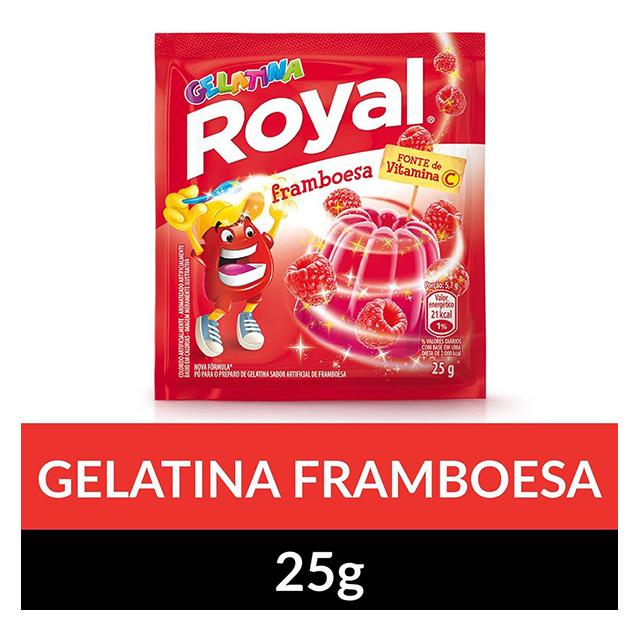 GELATINA ROYAL 15X25G FRAMBOESA