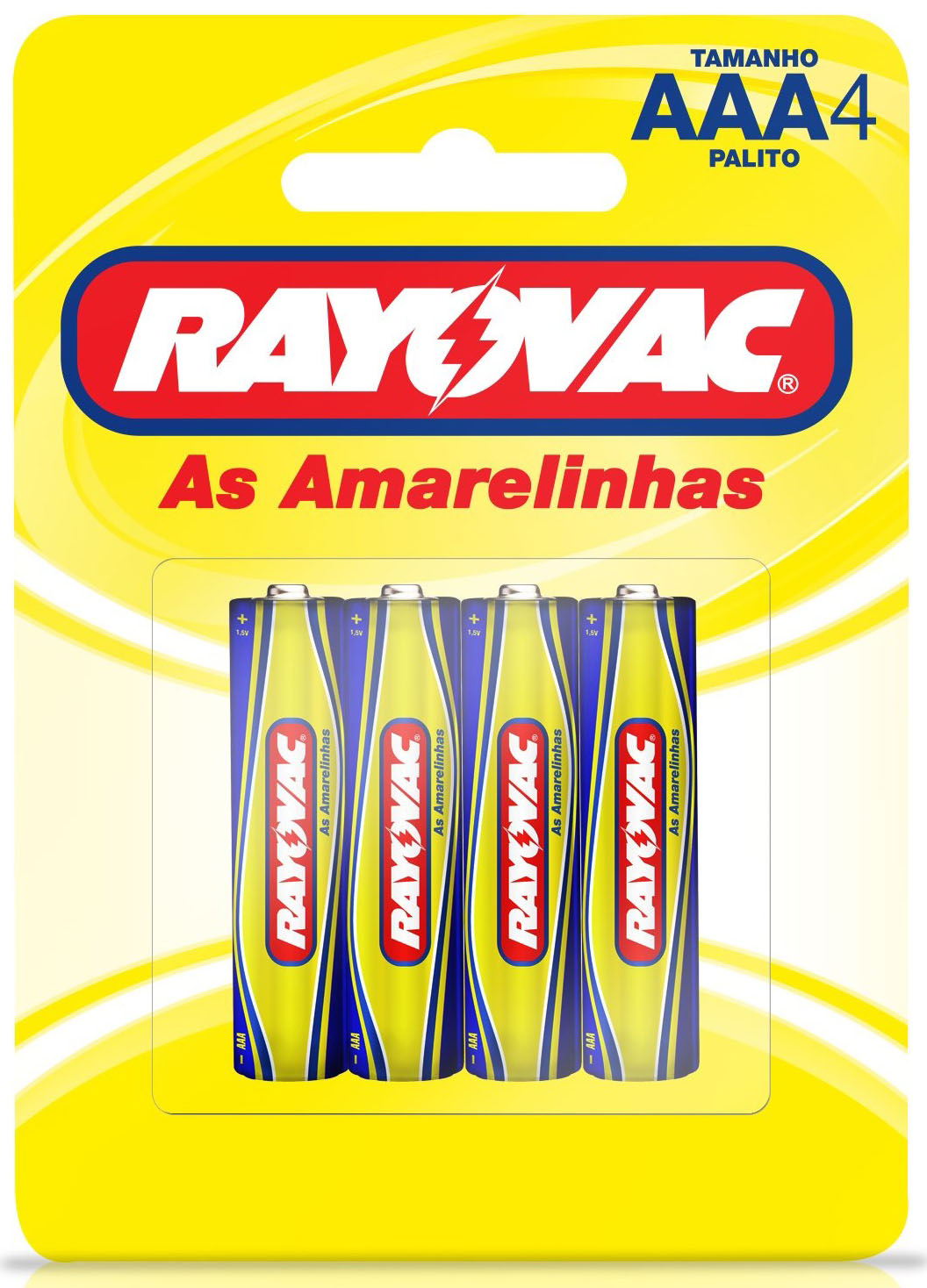 PILHA AMARELINHA PALITO AAA C/4UN 10307
