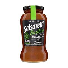 MOLHO DE TOMATE SALSARETTI 500G BASILICO