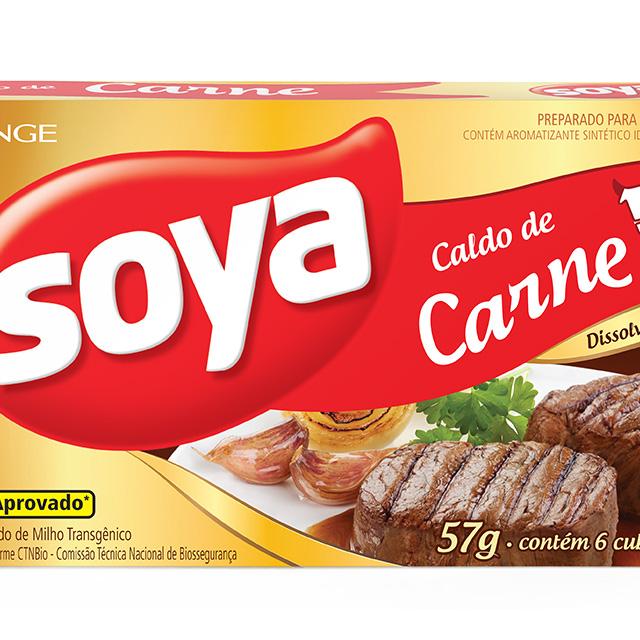 CALDO SOYA 10X57G CARNE