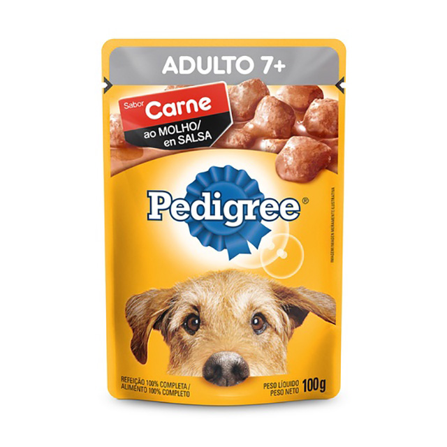 PEDIGREE POUCH CARNE ADULTO 7+ 100G