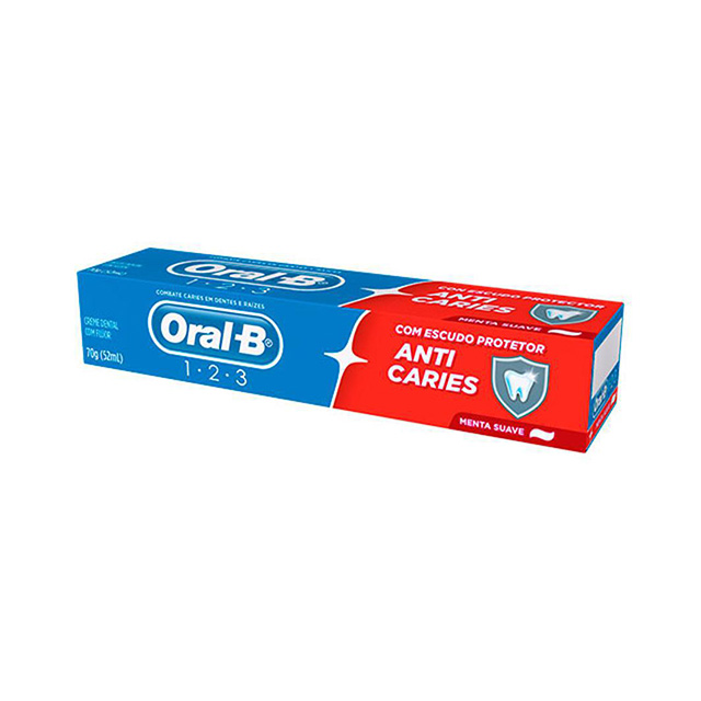 CREME DENTAL ORAL B 123 MENTA 70G