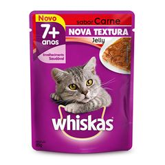WHISKAS POUCH JELLY ADULTO CARNE7+85G