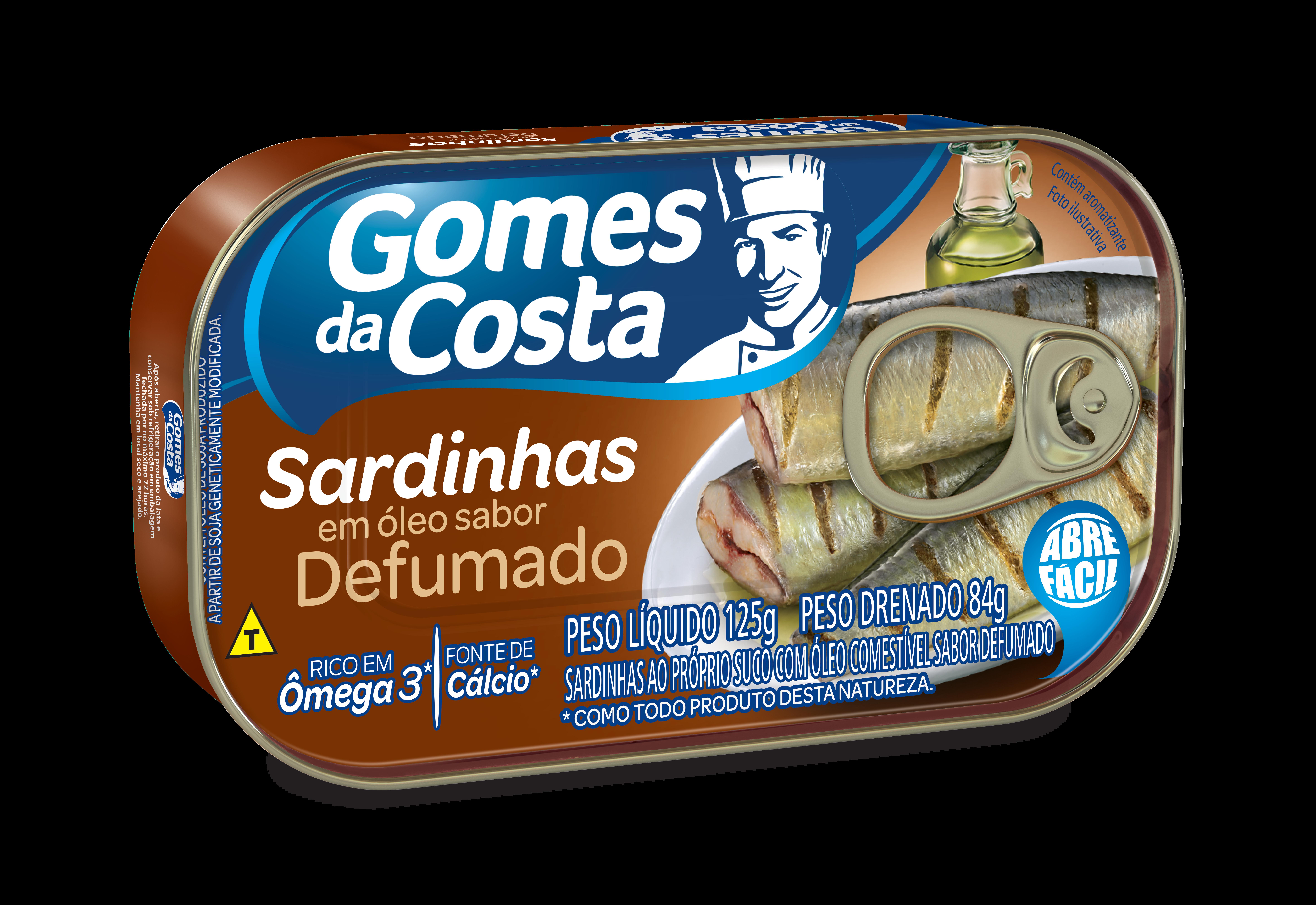 SARDINHA GDC 125G OLEO SABOR DEFUMADO