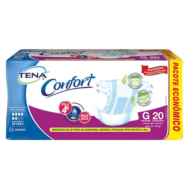 FRALDAS TENA CONFORT MEGA G C/20UN