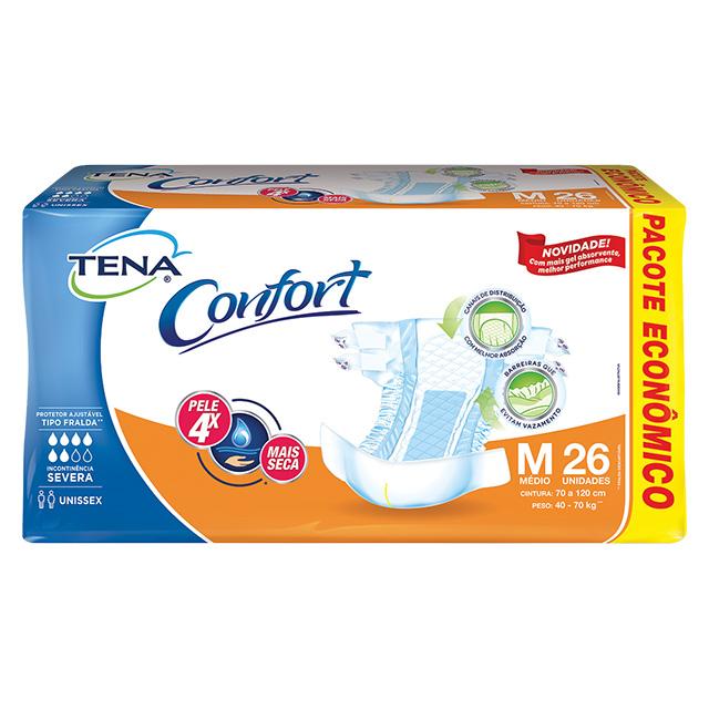 FRALDAS TENA CONFORT MEGA M C/26UN