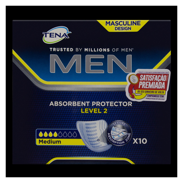 ABSORVENTE TENA MEN LEVEL 2 C/10UN