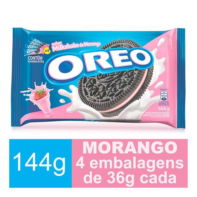BISCOITO OREO 4X36G MORANGO MULTIPACK