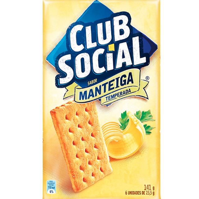BISCOITO CLUB SOCIAL 06X23.5G MANTEIGA
