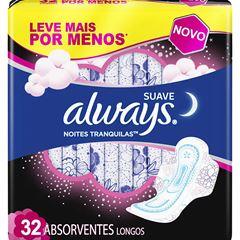 (I)ABS ALWAYS PINK NOTURNO C/ABAS L32P26