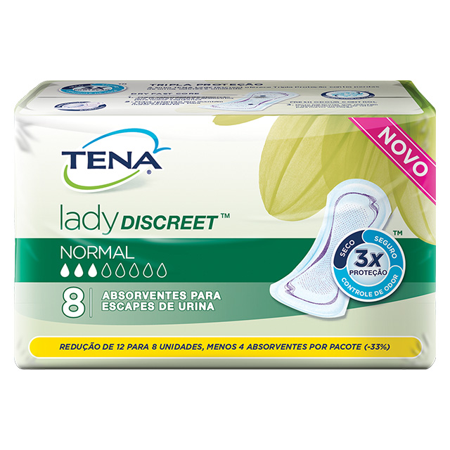 ABSORVENTE TENA LADY DISCREET NORMAL C/8UN