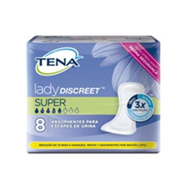 ABSORVENTE TENA LADY DISCREET SUPER C/8UN