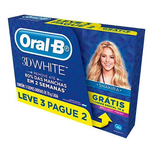 CREME DENTAL ORAL B 3DWHI BRIFRESH 70G L3P2