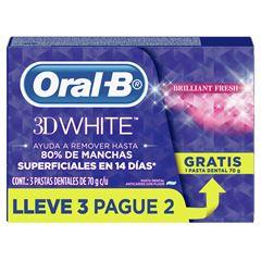 CREME DENTAL ORAL B 3DWHI BRIFRESH 70G L3P2
