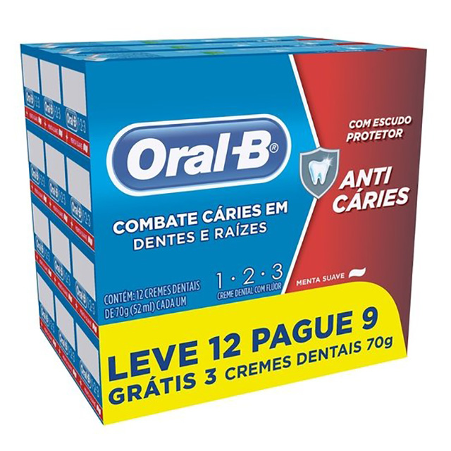 CREME DENTAL ORAL B 123 70G L12P9
