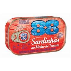SARDINHA 88 125G C/MOLHO TOMATE