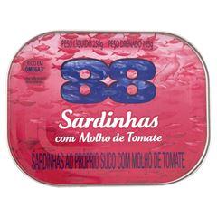 SARDINHA 88 250G C/MOLHO TOMATE