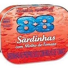SARDINHA 88 250G LAJE C/MOLHO TOMATE