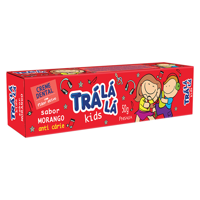 CREME DENTAL TRALALA KIDS 50G MORANGO