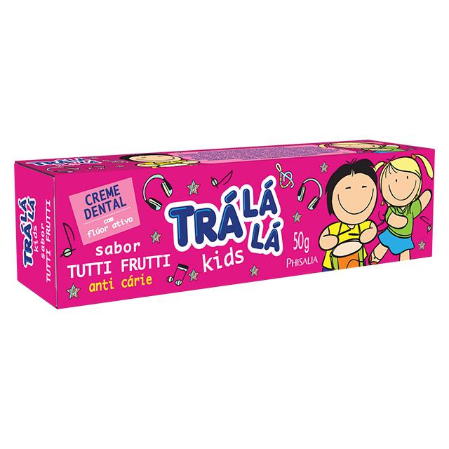 CREME DENTAL TRALALA KIDS 50G TUTI FRUTT