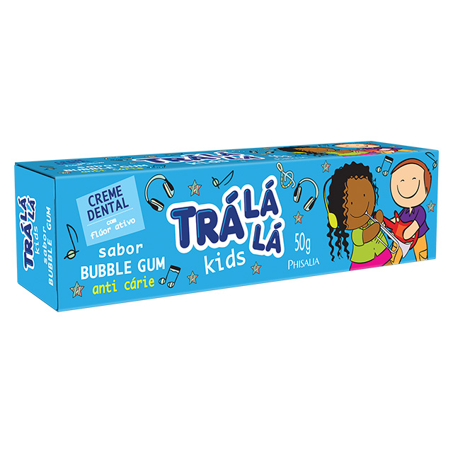 CREME DENTAL TRALALA KIDS 50G BUBBLE GUN