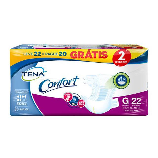 FRALDAS TENA CONFORT MEGA G L22P20