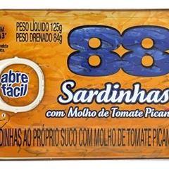 SARDINHA 88 125G C/MOLHO TOMATE PICANTE