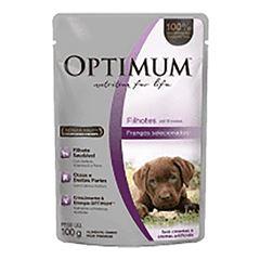 OPTMUM DOG POUCH FILHOTE FRANGO 100G
