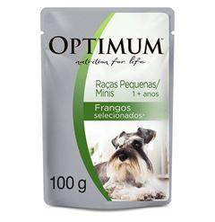OPTMUM DOG POUCH ADT FRANGO MED&MIN 100G