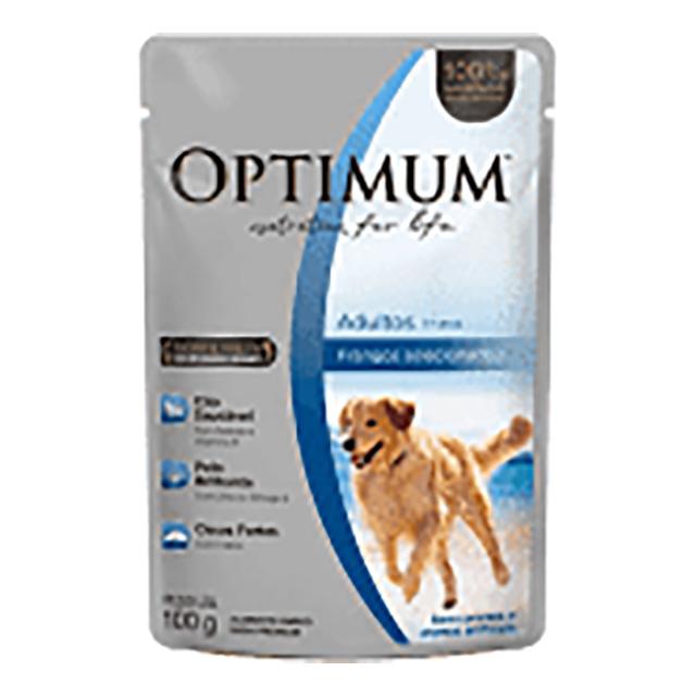 OPTMUM DOG POUCH FRANGO ADT 100G