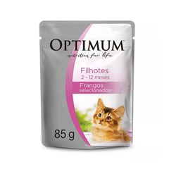 (I)OPTMUM CAT POUCH FILHOTE FRANGO 85G