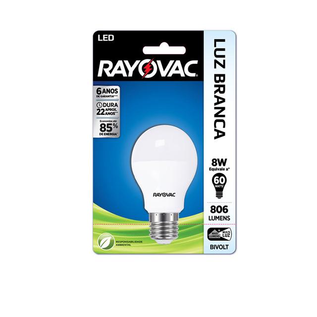 LAMPADA LED 8W BI-VOLT BRA A55