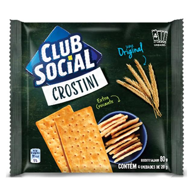 BISCOITO CLUB SOCIAL 04X20G CROSTINI ORIG
