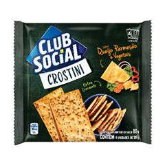 BISCOITO CLUB SOCIAL 04X20G CROSTINI QJ/PARM