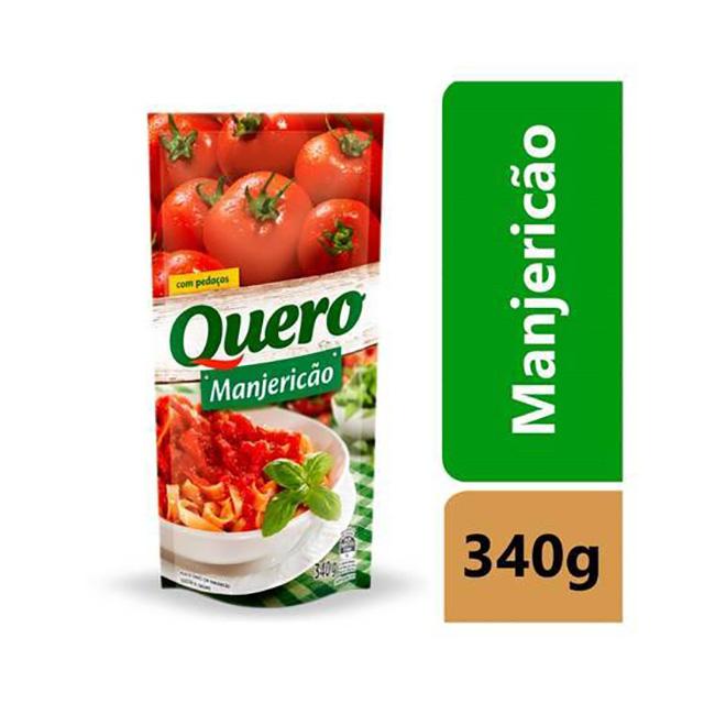 MOLHO QUERO 340G MANJERICAO SACHE