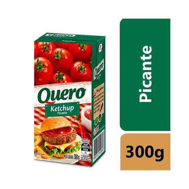 KETCHUP QUERO 300G PICANTE CAIXA