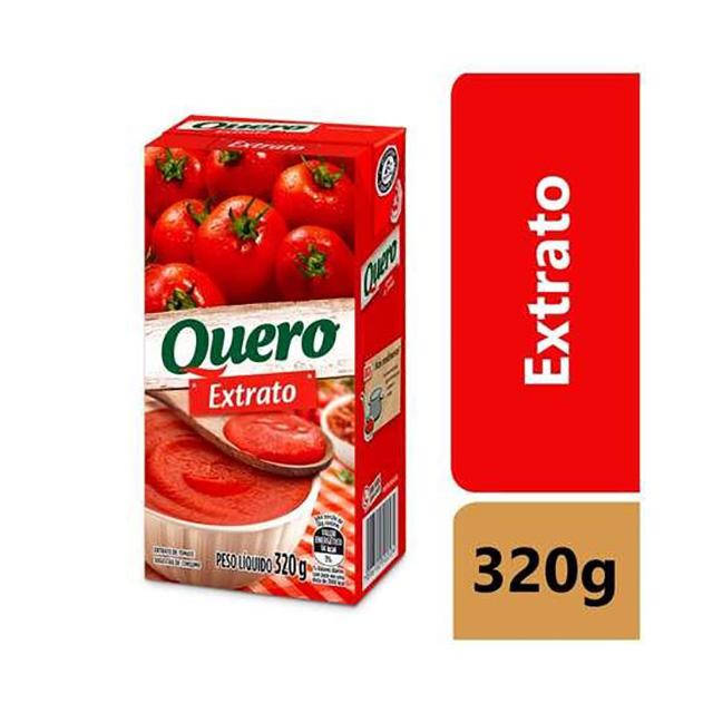 EXTRATO TOMATE QUERO 320G TP