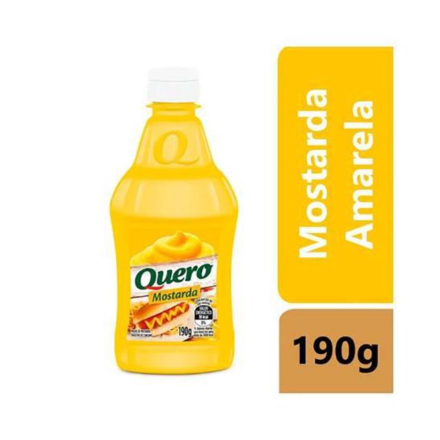 MOSTARDA QUERO 190G FRASCO