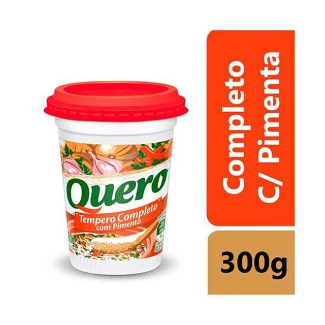 TEMPERO QUERO 300G COMPLETO C/PIMENTA