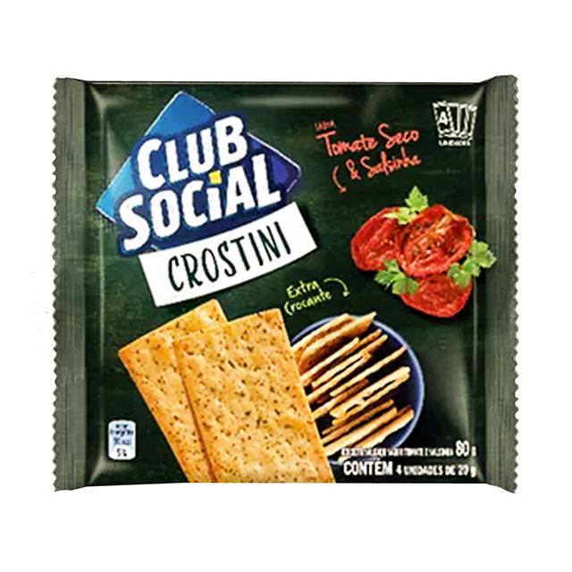 BISCOITO CLUB SOCIAL 04X20G CROSTINI TOM/SAL