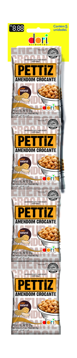 AMENDOIM PETTIZ 20G NATURAL CROC C/5UN