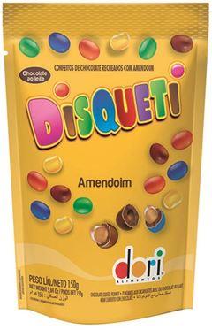 DISQUETI AMENDOIM 150G CHOCOLATE POUCH