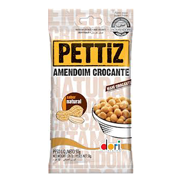 AMENDOIM PETTIZ 50G NATURAL CROCANTE